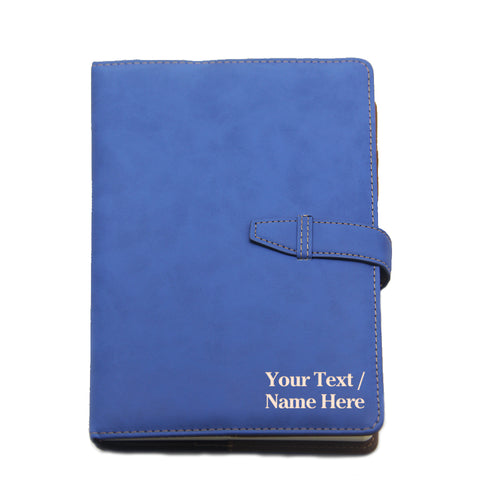 Personalised PU Leather Notebook Journal Diary A5 - EDSG