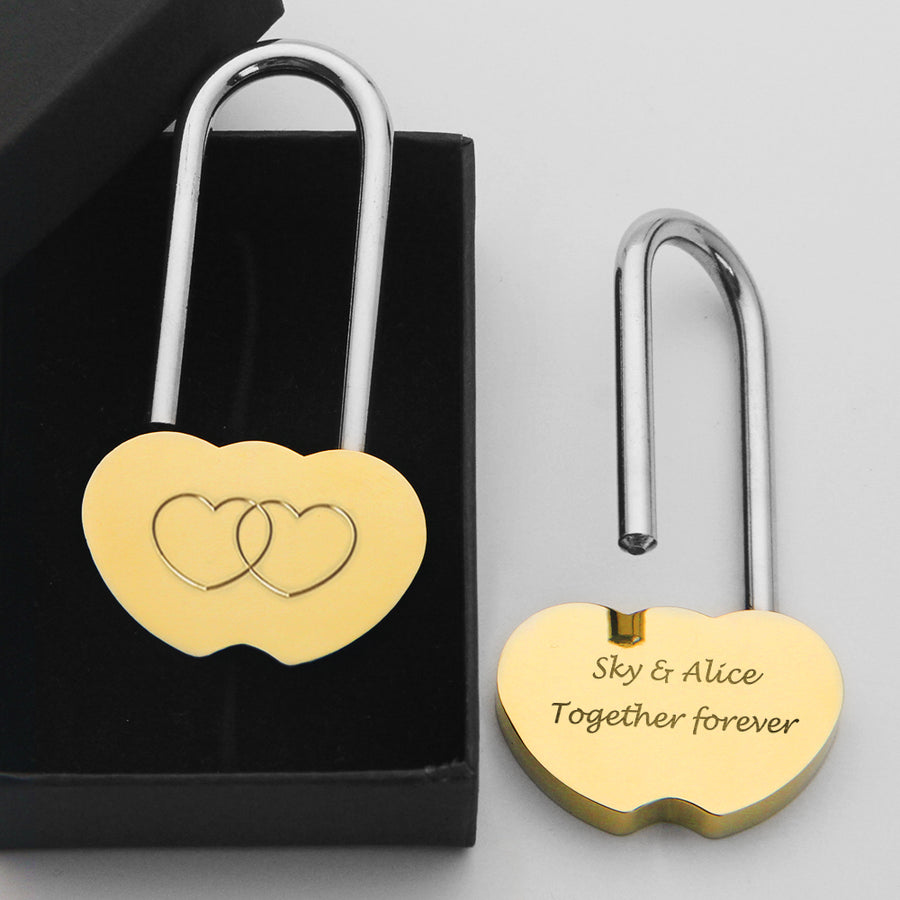 Personalised Love Lock Engraved Padlock Wedding Anniversary Gift - EDSG