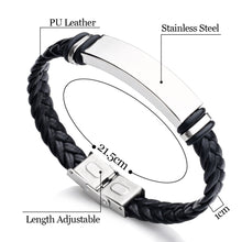 Load image into Gallery viewer, Personalised Engraved Leather Birthday Bracelet - EDSG