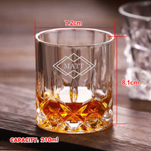 Load image into Gallery viewer, Personalised Engraved Whiskey Tumbler Glass