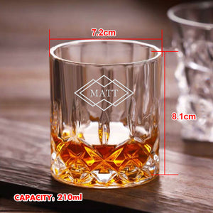 Personalised Engraved Whiskey Tumbler Glass