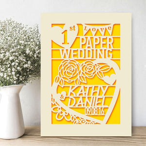 Personalised Wedding Anniversary Card - EDSG