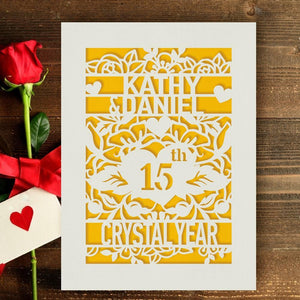 Personalised Anniversary Card - EDSG