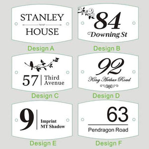 Luxury Personalised House Sign Door Plaque (MADE IN THE UK) - EDSG