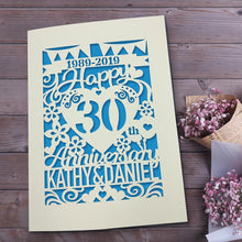 Load image into Gallery viewer, Personalised Anniversary Card for Husband for Wife - EDSG
