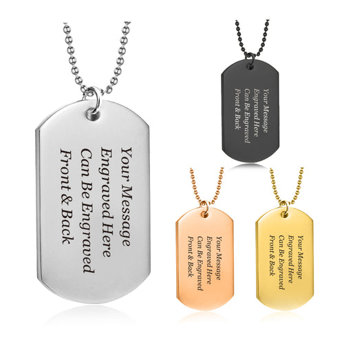 Personalised Engraved Dog Tag Army Necklace for Men - EDSG