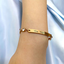 Load image into Gallery viewer, Personalised Birthstone Bracelets Engraved Bar Bracelet for Her