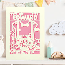 Load image into Gallery viewer, Personalised Baby Girl Birthday CardGift for Girl with Envelopes - EDSG