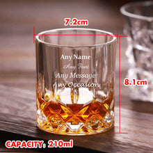 Load image into Gallery viewer, Personalised Engraved Whiskey Tumbler Glass 7oz - EDSG
