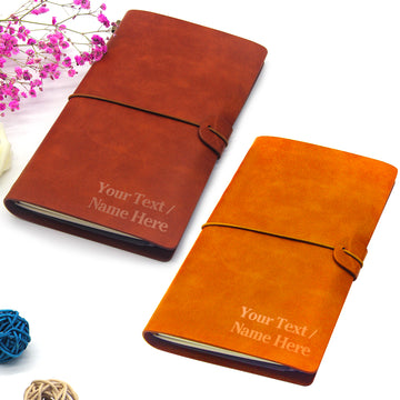 Personalised Leather Notebook - EDSG