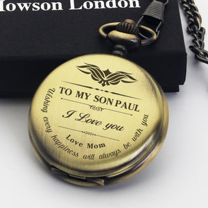 Personalised Engraved Pocket Watch Thankyou Gift - EDSG
