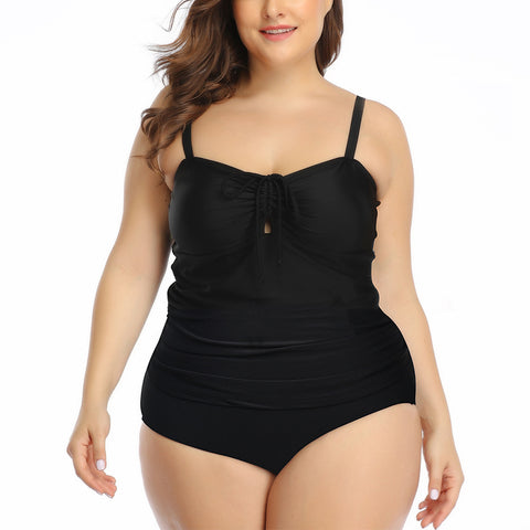 Women's Sling Solid Color Split Swimsuit