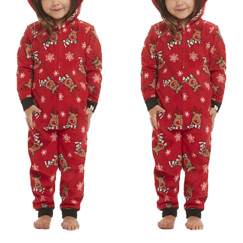 Stylish Christmas Printed Jumpsuit Family Matching Outfits