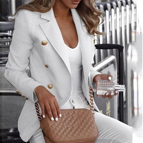 Casual Standing Collar Long Sleeve Solid Collar Suit(Video)