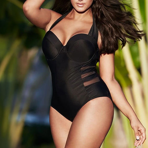 Ladies Sexy Plus Size One Piece Swimsuit
