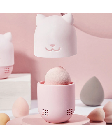 Dustproof Silicone Portable Breathable Beauty Egg Storage Box