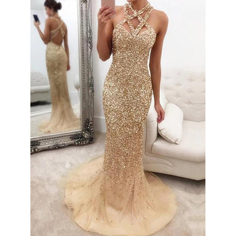 Women's fashion noble evening dress