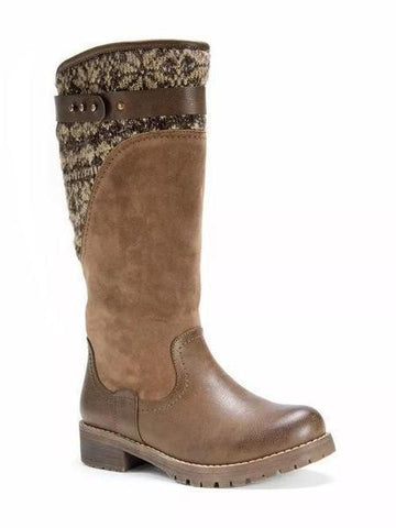 PMS Boots Brown / 35 Autumn and   winter new school wind  high boots with   low and side heel Women's Boots