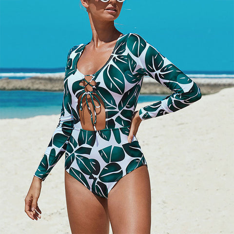 Women's Sexy Lace One-Piece Swimsuit