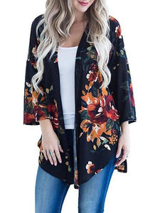 PMS Cardigans black / s Oil Painting Make-Up Print Kimono Cardigan