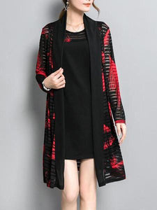 PMS Cardigans red / m Cardigan Two Sets Of Loose Shift Dress