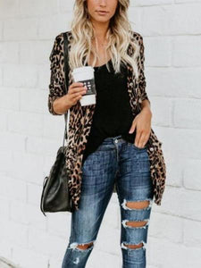 PMS Cardigans same_as_photo / xs Long And Medium Leopard Loose Cardigan