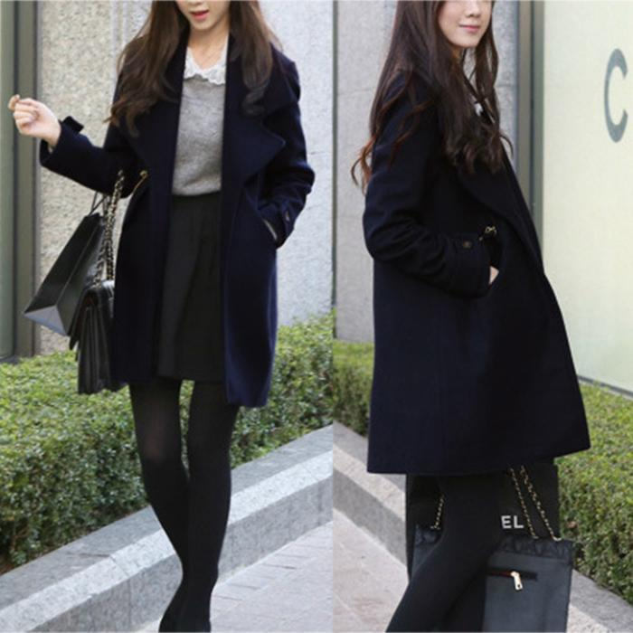 PMS Coat Same As Photo / s Women Woolen Casual Coat Fashion Cardigan