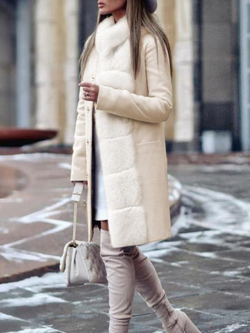 PMS Coats Same As Photo / s Fashion Long Sleeved Casual Coat