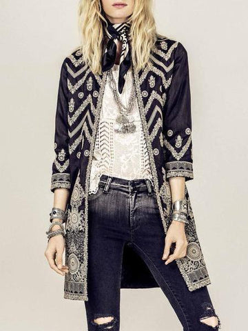 PMS Coats Same As Photo / s Printed Colour Long   Sleeve Coat