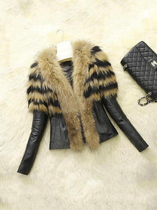 PMS Coats Yellow / s Autumn And Winter Fashion New Imitation Fur Coat