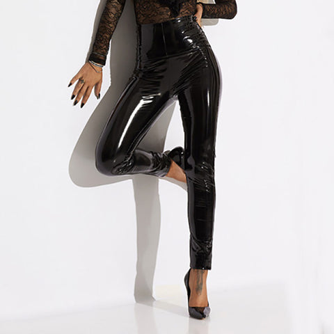 Women's Leather Skinny Trousers