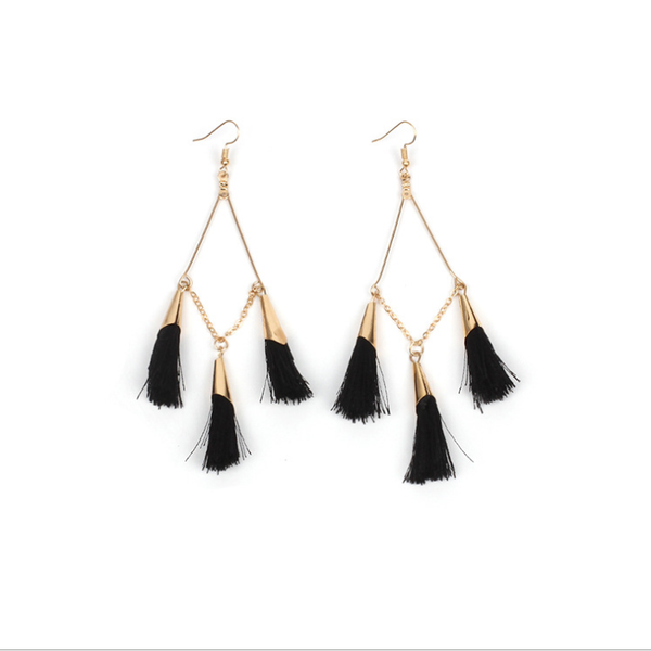 PMS Earrings Black / one size Bohemian Handmake Tassel Earrings