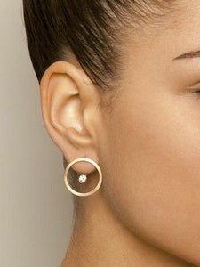 PMS Earrings Gold / one size Fashion Personality New Nightclub Women's Circle Back Hanging Earrings