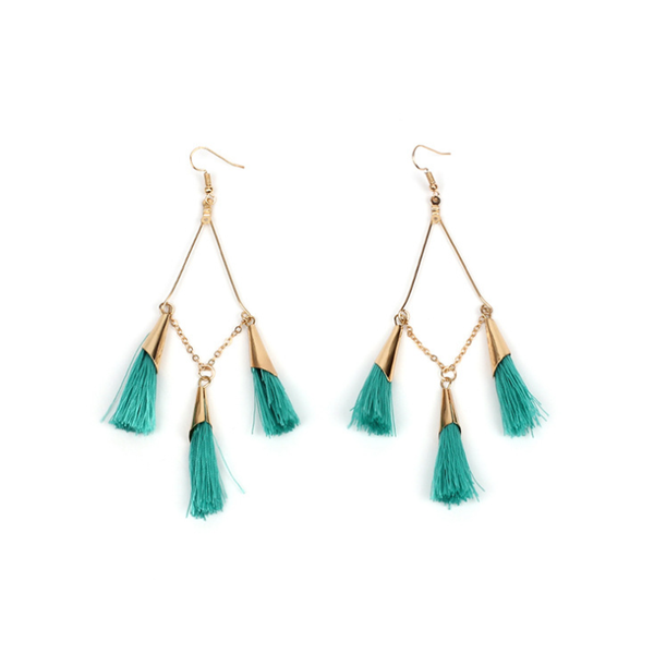 PMS Earrings Green / one size Bohemian Handmake Tassel Earrings