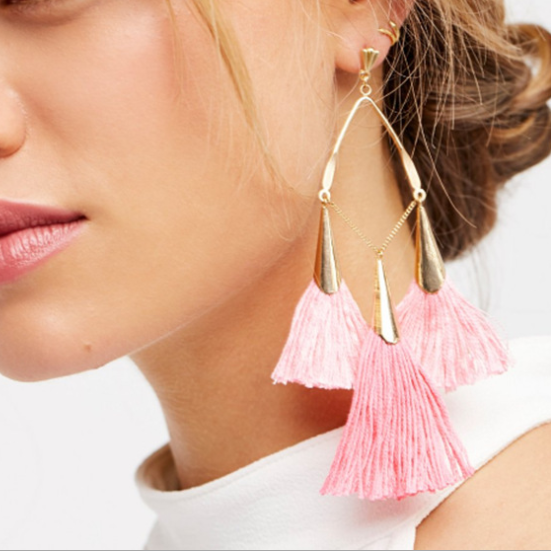PMS Earrings Pink / one size Bohemian Handmake Tassel Earrings