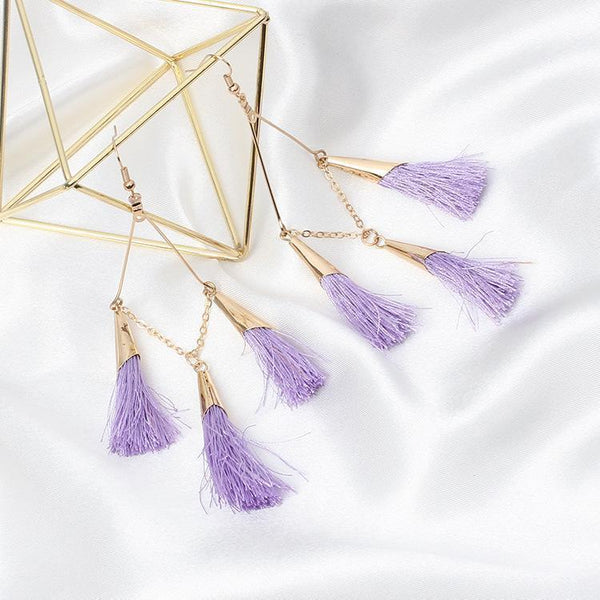 PMS Earrings Purple / one size Bohemian Handmake Tassel Earrings