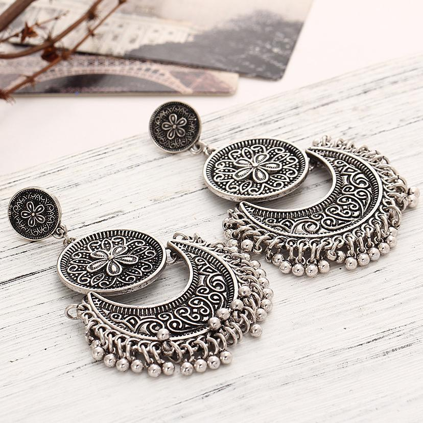 PMS Earrings Silver / one size Vintage National Style Tassel Earrings