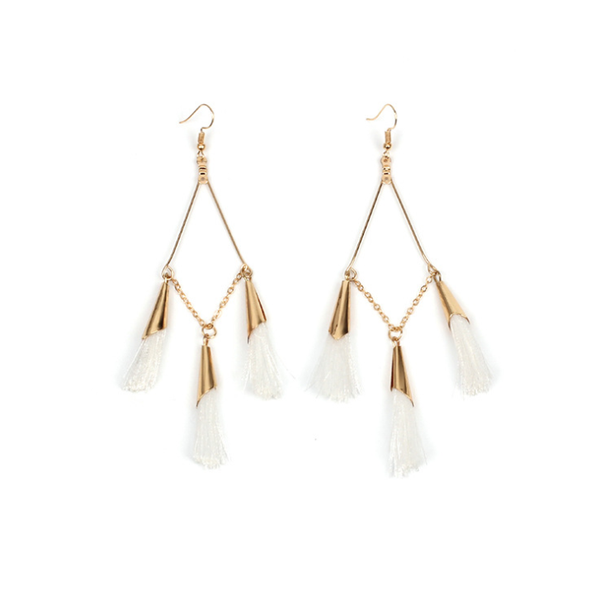 PMS Earrings White / one size Bohemian Handmake Tassel Earrings