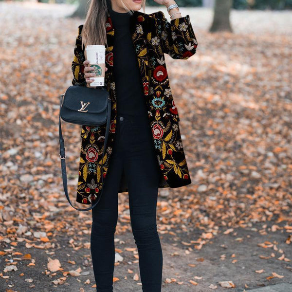 PMS Jackets Same As Photo / s Autumn And Winter   Fashion Printed Long-Sleeved Suit Jacket&Cardigan