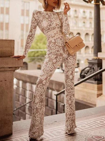 PMS Jumpsuits Same As Photo / s Sexy Fashion Long Sleeve Jumpsuit