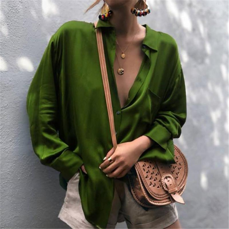 PMS Long Sleeve Shirts Green / s Autumn And Winter   Fashionable Long-Sleeved Shirts