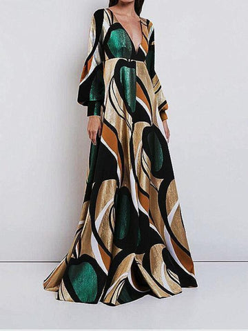 PMS Maxi Dress Same As Photo / l Elegant And Fashionable   Print  Maxi Dress