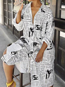 PMS Maxi Dress White / s Modern V Neck Printed   Colour Dress