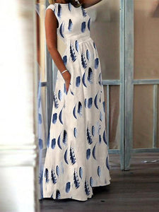 PMS Maxi Dresses Same As Photo / m Fashion Elegant High-Waisted Pocket Holiday Maxi Dress