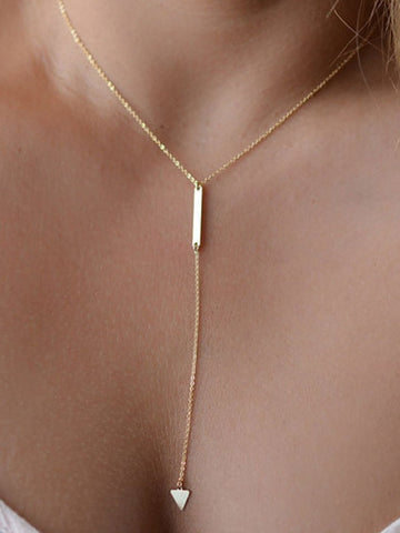 PMS Necklaces Gold / one size Metal Long Necklaces For Women