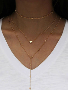 PMS Necklaces Gold / one size Three Pieces Long Necklaces For Women