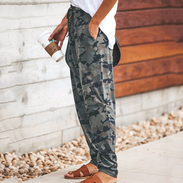 PMS Pants Camouflage / s Fashion Camouflage Slim Casual Pants
