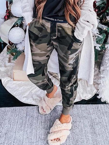 PMS Pants Camouflage / s Long  Casual Camouflage Pants