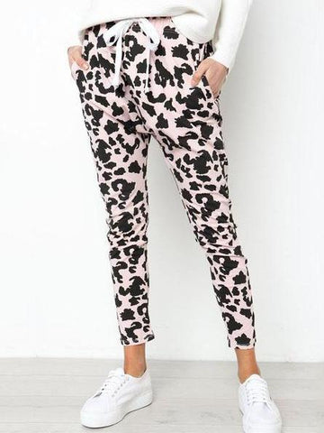 PMS Pants pink / s Sexy Feature Printed Loose Leisure Pants