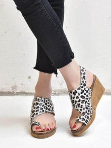 PMS Sandals Black / 35 Fashion Wild   Toe Wedge Sandals